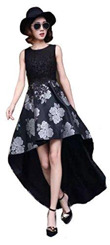 o Prom Bella sera rosso taglia abito floreale lungo 38L argento estate posteriore breve nero e da Aimerfeel anteriore CIwaaq