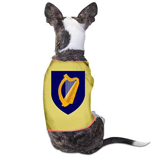 HOiw Cwfz Coat of Arms of Ireland Fashion Pet Clothes Dog Shirt for Cats and Small Dog Cat Vest Clothes Puppy ()