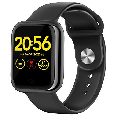 Wordcam Smartwatch, 3,3 cm (1,3 inch), sporthorloge met hartslagmeter, bloeddruk, stopwatch, calorieën, stappenteller…
