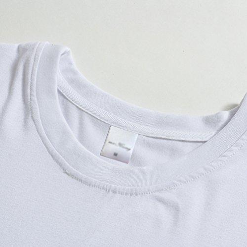 Dimensioni Corte Stampa Selezionare A Incinte T Grandi Impronta Maniche Le Donne Sottile Donne Binhee Shirt Bianco T0qf54x4