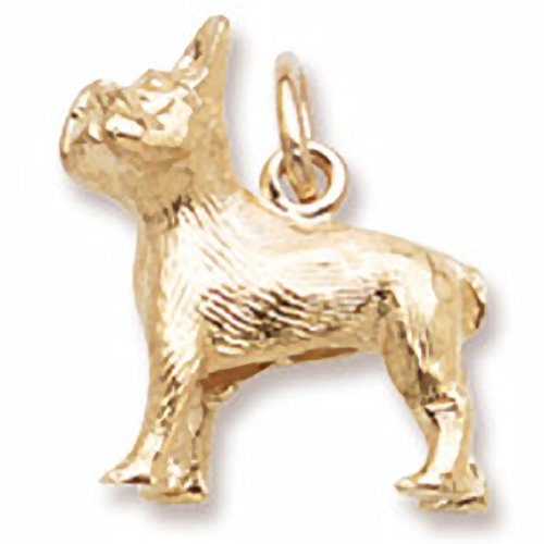 French Bulldog Charm In 14k Yellow Gold, Charms for Bracelets and Necklaces