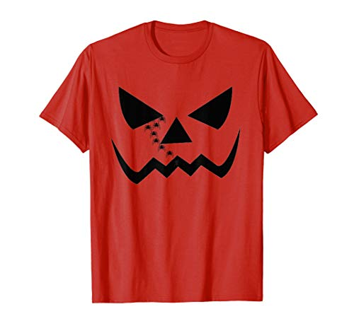 Jack O Lantern Halloween Funny Face short sleeve oranget s]()
