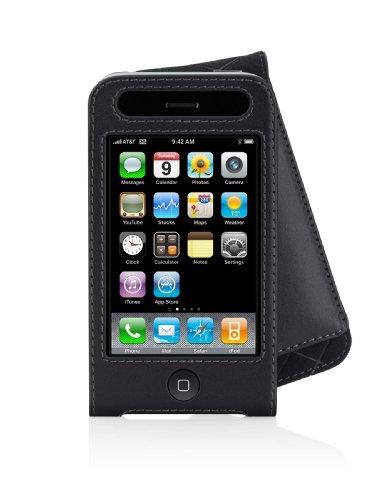 Belkin iPhone 3G/3GS Leather Folio - (Belkin Black Leather Folio)