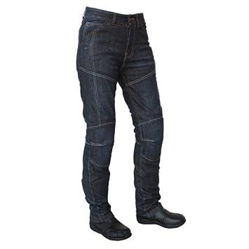 Roleff Racewear Pantalones Vaqueros de Motorista de Aramida para Mujer, Azul, 33