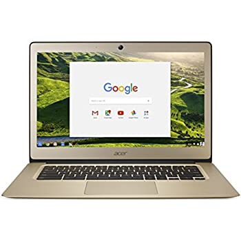 Acer Chromebook 14, Aluminum, 14-inch Full HD, Intel Celeron N3160, 4GB LPDDR3, 32GB, Chrome, Gold, CB3-431-C0AK