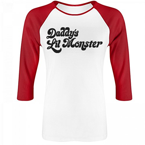 Harley Quinn Costume: Junior Fit Bella 3/4 Sleeve Raglan T-Shirt