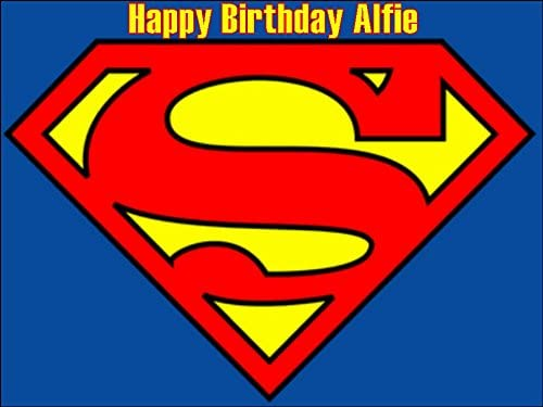 Strange A4 Superman Edible Icing Birthday Cake Topper Superhero Amazon Co Funny Birthday Cards Online Necthendildamsfinfo