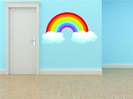 BEDROOM DECOR Outdoor Sky Rainbow Cloud Scene Boy Girl Kids Children  Graphic Design Picture Art Sticker