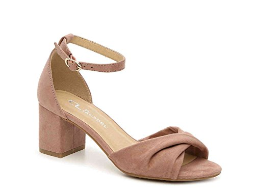 Chinese Laundry Womens Joselyn Open Toe Casual Ankle Strap Sandals Powder qOmRV5tZn