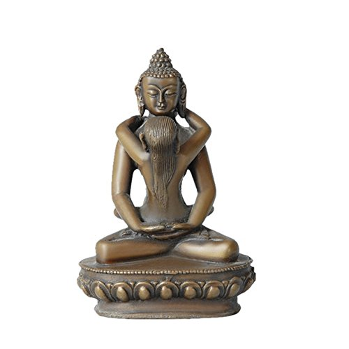 Toperkin Yab-Yum Bronze Buddha Statue Buddhist Sculpture Decoration TPFX-022 - Gold Buddhist Statues
