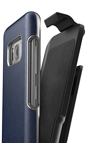 Galaxy S8 Leather Belt Clip Case w/ Holster - Artura Collection by Encased (Samsung S8) (Oxford (Oxford Leather Cell Phone Case)