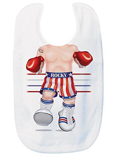 (Just Add A Kid Baby Boy's Rocky 417 Baby Bib 0-6 Months White)
