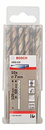 7 x 69 x 109 mm Pack de 10 brocas met/álicas HSS-Co Bosch 2 608 585 892 DIN 338