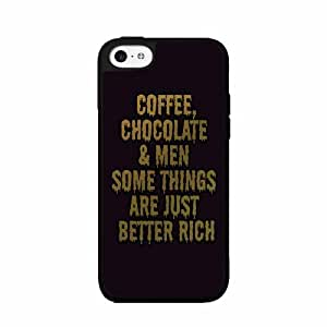Chocolate Coffee and Men TPU RUBBER SILICONE Phone Case Back Cover iPhone 5 5s