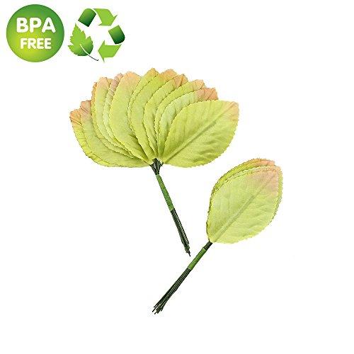 Silk Leaf Green Artificial Leaves Flower DIY HOME Decorative Christmas Party decoration Bouquet Wreaths Wedding Decor 120pcs (light green)