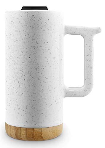 (Ello Aspen 16oz Ceramic Travel Mug (Dusty White Speckle))