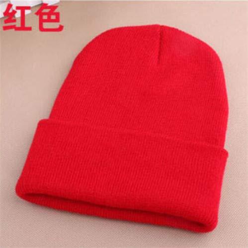 948de8f07e5 Image Unavailable. Image not available for. Color  Men s Women Beanie Knit  Ski Cap Hip-Hop Blank Color Winter Warm Unisex Wool Hat