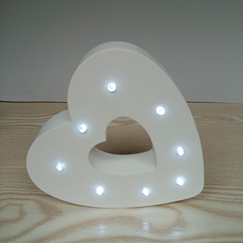 Wooden Heart Led Lights in US - 2
