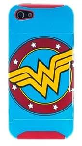 DC Comics WONDER WOMAN Logo Protective Plastic Kickstand IPHONE 5/5S CASE by ruishername