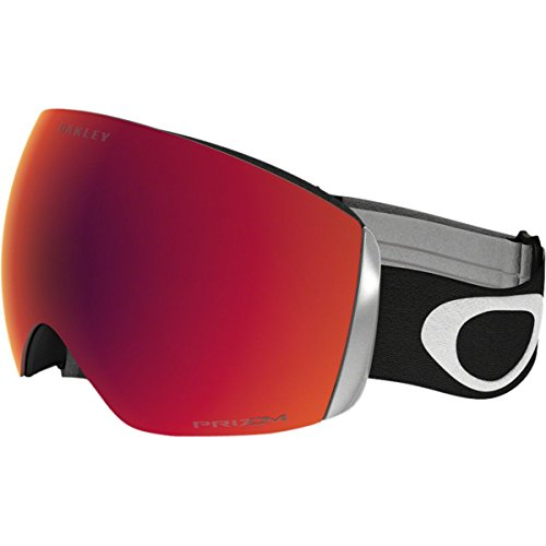 Oakley OO7050-33 Men's Flight Deck Snow Goggles, Black, Prizm Torch Iridium, - Rimless Oakley Goggles