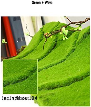 人工芝厚い芝生、庭の芝生ビューバルコニー合成苔マット1.5cmパイル高1m×1mサイズ (Size : 2pack)