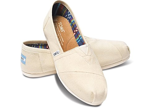 Toms Womens Classic Canvas Slip-On (38-39 M EU / 8 B(M) US, Natural)