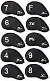 6. Mizuno Japan 3-9,Pw,Sw,F (10 pieces) Iron Covers (Polyesther)