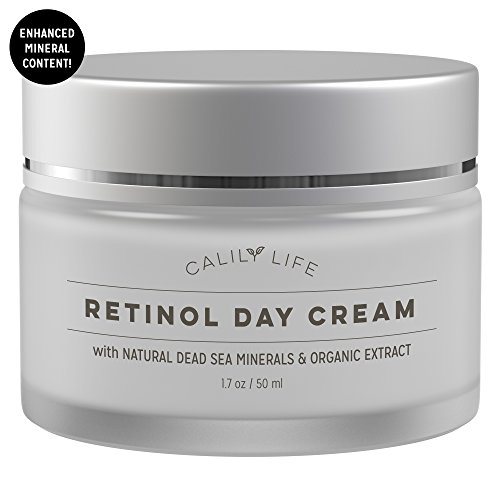 Retinol Day Cream (Calily Life Organic Anti-Aging Retinol Day Cream with Dead Sea Minerals, 1. 7 Oz. – Anti-Wrinkle, Hydrates, Smooths, Regenerates and Strengthens - Non-Greasy, Fast Absorbing [ENHANCED])