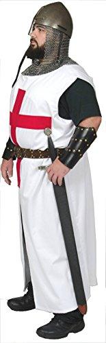 Templar Crusader Knight Tunic Medieval Latin Cross (Small/Medium) Handmade In Stock (Mens Templar Knight Costume)