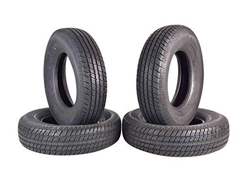ST 225/75R15 Trailer Tire Traimate Load Range D 8 Ply Radial 225/75-15 4 Pack Tires 2257515 225 75 15 (4) (15 Inch Trailer Tires Load Range D)