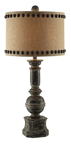 Crestview Collection Iron Baluster Resin Table Lamp