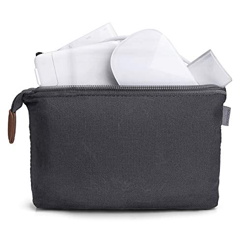tomtoc Portable Canvas Storage Pouch Bag Case Accessories Organizer compatible with Laptop Mouse, Power Adapter, Cables, Cellphone, SSD, HDD Enclosure, Power Bank