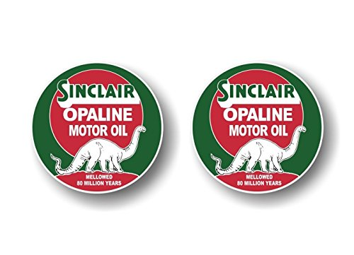 (2 Vintage Sinclair Opaline Motor Oil Antique Gas Pump 9
