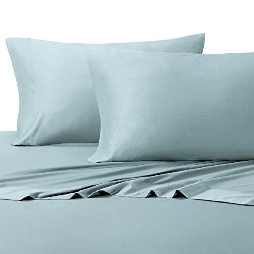 Water blue flat Sheet set 100% Cotton bedding bedsheet - 4