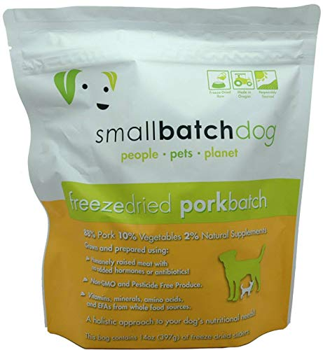 Small Batch Freeze Dried Pork Batch for Dogs, 14 Ounces by Small Batch