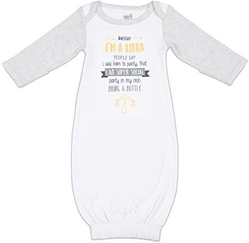 Pavilion - Zodiac Libra 0-3 Month New Born Gown with Mitten Cuffs