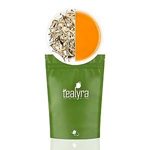 Tealyra - Luxury Jasmine Silver Needle White Losse Tea - Organically Grown in Fujian China - Loose Leaf Tea - Caffeine Level Low - 110g (4-ounce)