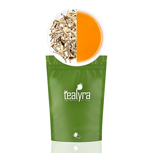 Fujian Silver Needle - Tealyra - Luxury Jasmine Silver Needle White Losse Tea - Organically Grown in Fujian China - Loose Leaf Tea - Caffeine Level Low - 110g (4-ounce)