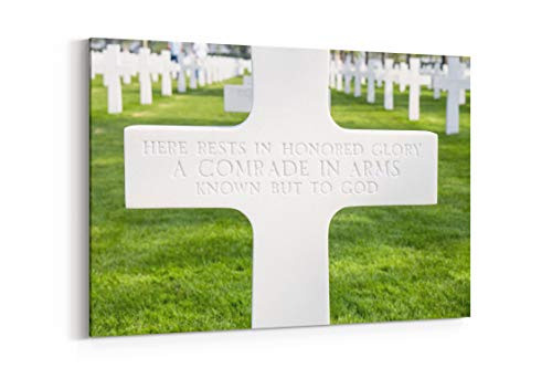 Cross Graveyard Green and Bokeh in Margraten Netherlands - Canvas Wall Art Gallery Wrapped 12