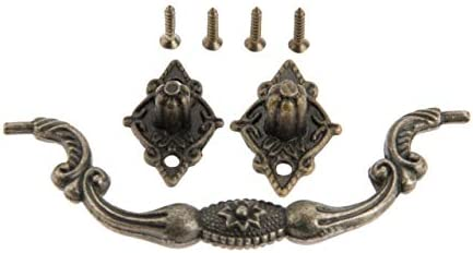 BOJI Antique Furniture Handles Box Suitcase Holder Cabinet Knobs And Handles Drawer Kitchen Pull Cupboard Handle Furniture Fittings Color : Hole spacing 94mm