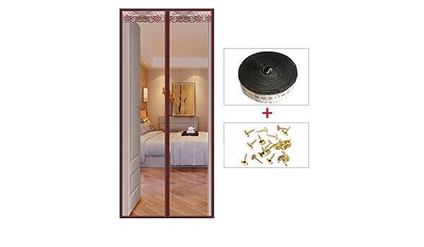 BYCDD Puertas Anti-Mosquitos MagnéTicos, cortina de malla de servicio pesado Cierre Automático Mosquiteras Para Puertas Puerta magnética,Coffee_39x91in/100x230CM: Amazon.es: Bricolaje y herramientas