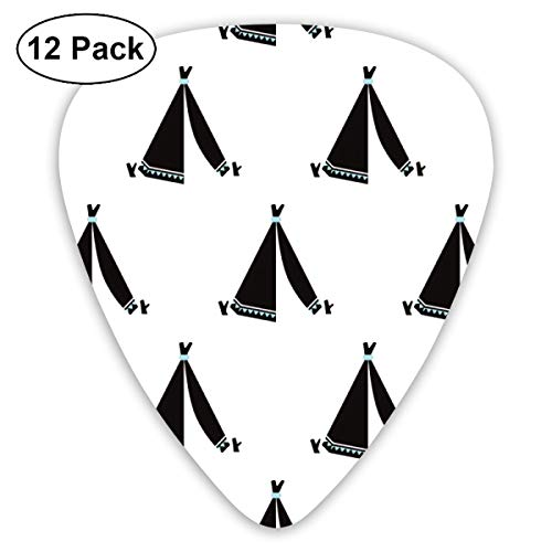Tent Black Bendy Ultra Thin 0.46 Med 0.73 Thick 0.96mm 4 Pieces Each Base Prime Plastic Jazz Mandolin Bass Ukelele Guitar Pick Plectrum Display