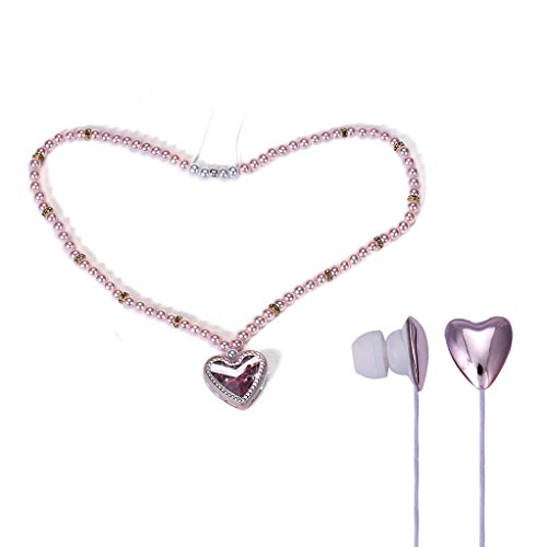 Bluetooth Headphones, Inkach AT-BT56 Bling Pearl Necklace Stereo Wireless Bluetooth Earphones