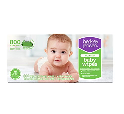 Berkley Jensen Green Tea & Cucumber Baby Wipes, 800 Count