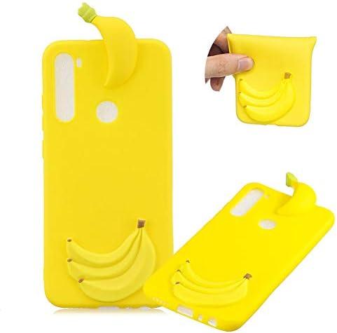 TPU Hülle für Xiaomi Redmi Note 8,Weich Silikon Hülle für Xiaomi Redmi Note 8,Moiky Komisch 3D Banana Entwurf Ultra Dünnen Scratch Resistant Soft Rückseite Abdeckung Handyhülle
