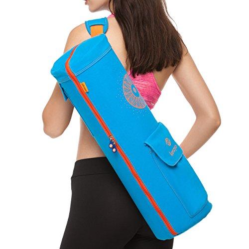 Yoga Mat Bag And Carrier - With Multi-Functional Storage Pockets, Adjustable Shoulder Strap, 4 Air...