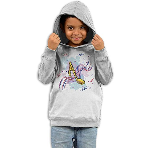 ZheuO Boys & Girls Baby Cartoon Music Note Classic Hoodie Sweatshirt 4 Toddler White