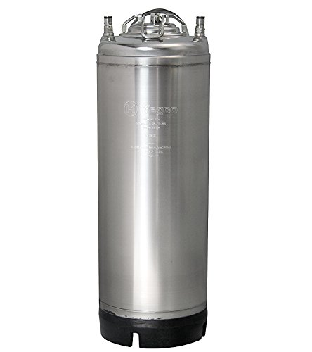 New Kegco 5 Gallon Home Brew Ball Lock Keg with Strap Handle homebrew Beer and Soda ()