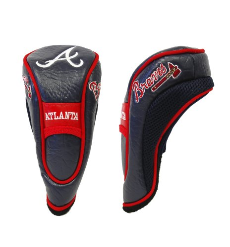 Team Golf MLB Atlanta Braves Hybrid Golf Club Headcover, Hook-and-Loop Closure, Velour lined for Extra Club Protection