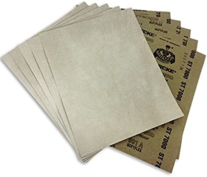 "Dry  10 FULL SHEETS  9/"" x 11/"" 600 Grit STARCKE MATADOR PREMIUM SANDPAPER  Wet"